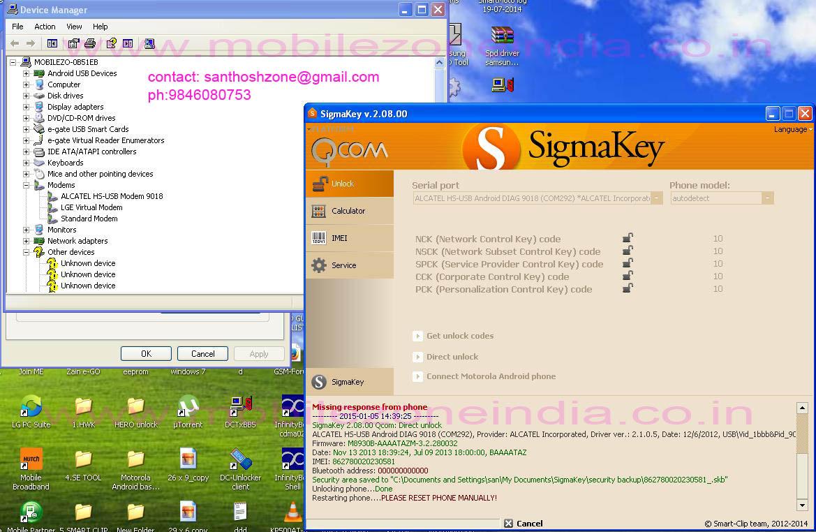 alcatel 6034r unlocked in sigmakey
