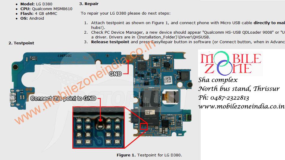 HTC D380 EASY REPAIR TESTPOINT